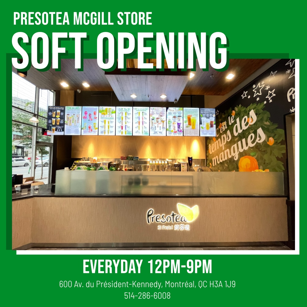 Montreal McGill Store Soft Opening